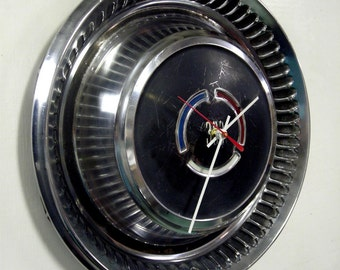1969 Chrysler 300 Hubcap Clock - Classic Car Hub Cap Wall Clock