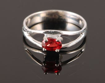 Handmade Jewelry, 925 Sterling Silver, Red Sapphire Ring, September Birthstone Ring, Sapphire Ring, Sizable Ring, Gift For Her, Red Jewelry
