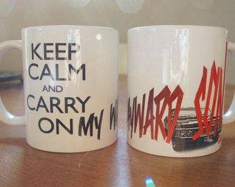 """Mug """"KEEP CALM SPN"""" - Supernatural / Dean Winchester / Sam Winchester / Jared Padalecki / Jensen Ackles"""