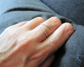 Forged sterling silver minimalist ring