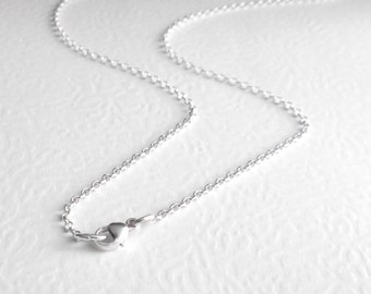 14 inch Sterling Silver Chain, 35 cm, Rolo Chain Choker, Silver Necklace