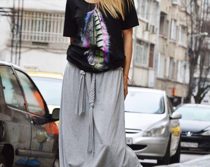 Plus Size Loose Casual Pants, Drop Crotch Harem Pants, Oversize Maxi Pants, Low Bottom Pants by SSDfashion