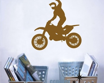 Extreme Motorcross sports game Personalized Name----Removable Graphic Art wall decals stickers home decor
