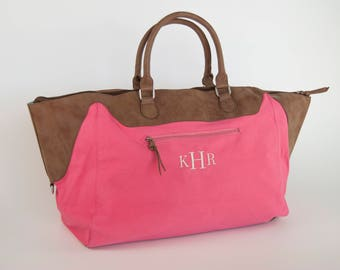 Bridesmaid Bag, Bridesmaid Gift, Monogram Bridesmaid Gift, Monogram Bridesmaid Bags, Monogram Weekender Bag, Duffel Bag, Monogram Duffel