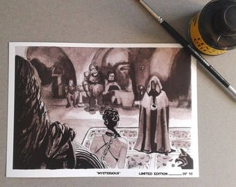 Mysterious-InkTober 2017-Signed Art Print Limited edition 10 units