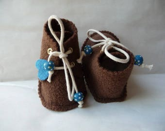 Baby shoes 0-3 (4) months boiled wool