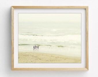 "Beach Photography - Minimal Wall Art - Neutral Beach Print - Beach House Decor - Ocean Art ""Glimpse of Summer"""