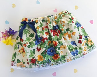 9-12m, Baby Vintage Skirt, Baby Fashion, Baby Skirt, Vintage Floral Skirt, Girls Skirt, Baby Flower Skirt, Cotton, Vintage Baby Skirt, Lace