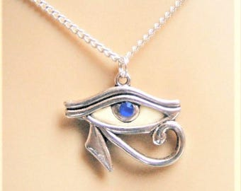 Eye of Horus Pendant, Eye of Horus Necklace, Glow in the Dark Necklace, Protection Amulet Protection Necklace Eye of Ra Necklace Eye Pendant