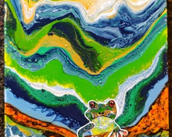 Friendly Frog 16x20 Canvas Painting