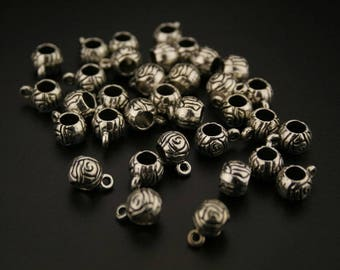 30 bails in antique silver. (ref:3333).