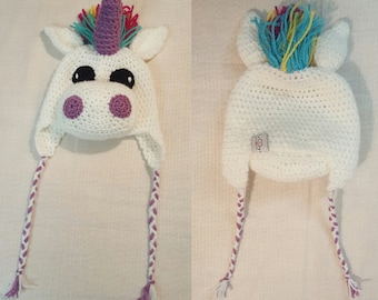 Unicorn hat, animal hat, unicorn beanie hat, 3D animal hat, crochet hat