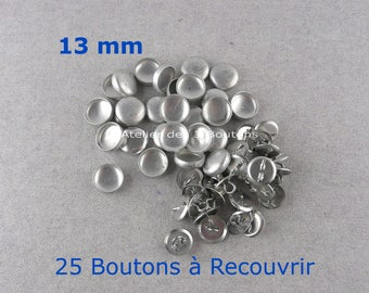 """25 Cover Buttons 1/2"""" (Size 20)"""