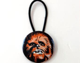 Chewbacca Fabric Covered Giant Button Ponytail Holder