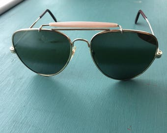 60s/70s Vintage Aviator Sunglasses Mirrored Lens