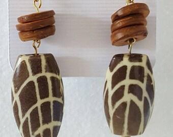 Giraffe print earrings