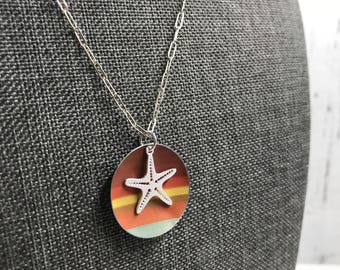 Recycled Tin Starfish Necklace