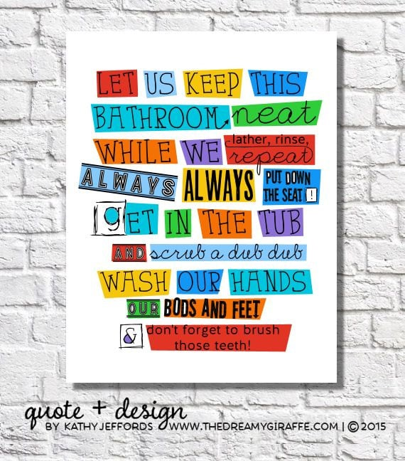bathroom rules for kids bathroom wall decor bathroom boys bathroom wall 16379