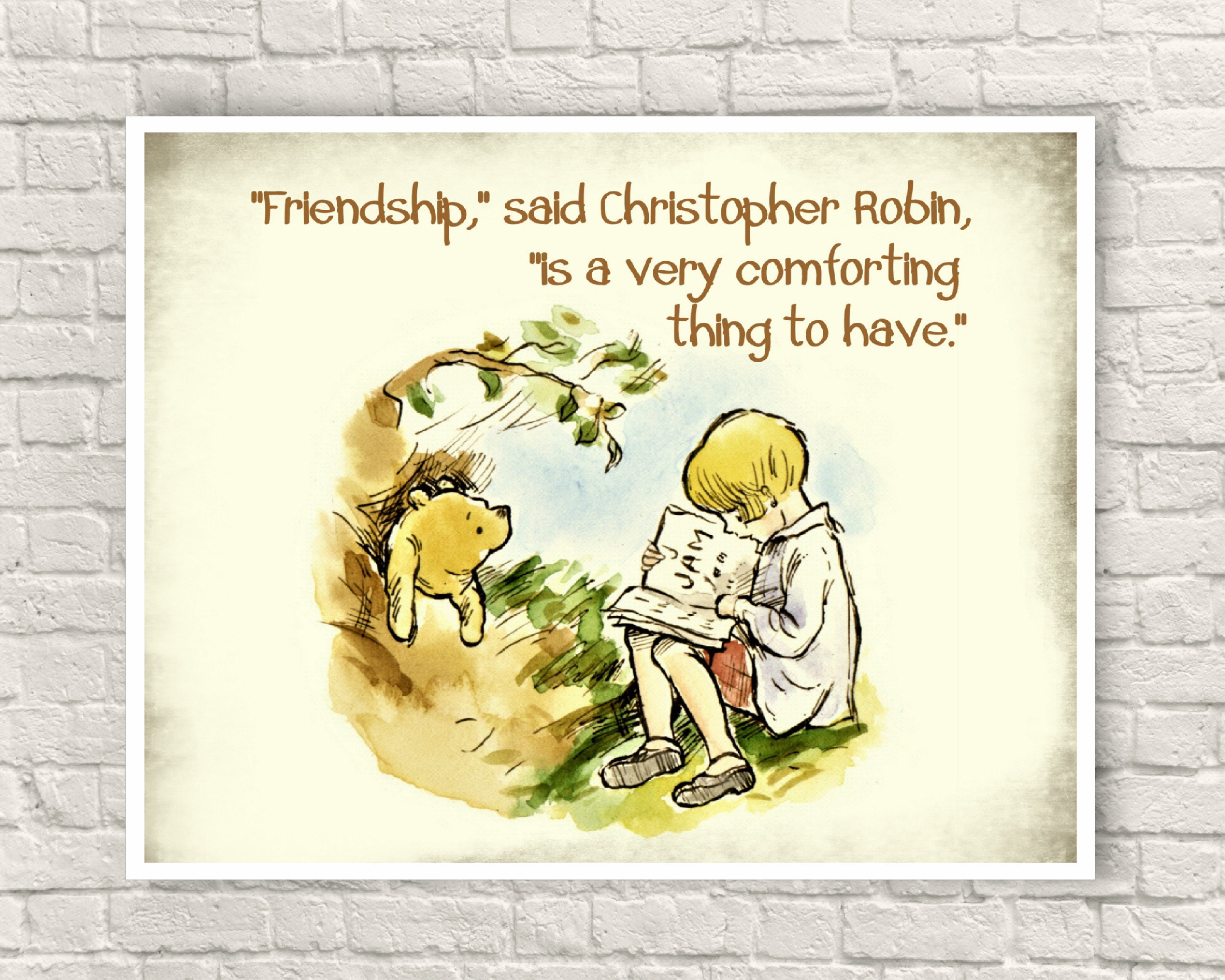 Contemporary Classic Pooh Wall Art Vignette - Art & Wall Decor ...