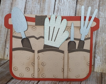 Garden Apron Handmade card