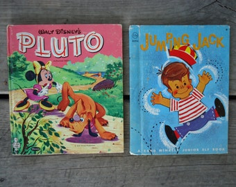 Walt Disney's Pluto Book 1957 and Jumping Jack Book 1962