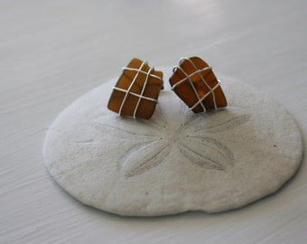 Brown Recycled Glass Cufflinks