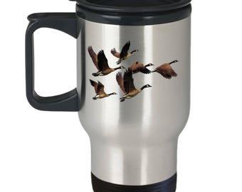 Canada Goose Coffee Travel Mug Cool Geese In Flight Gift