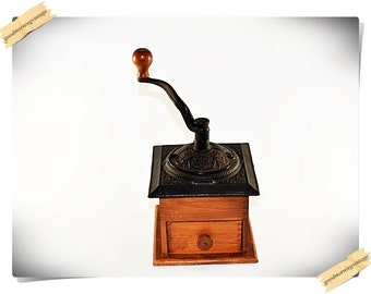 Wood and Iron Coffee Grinder