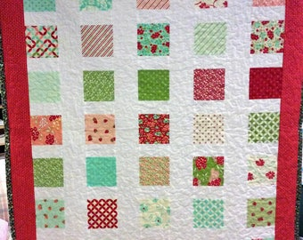 Hand made throw quilt, floral quilt, quilts for sale
