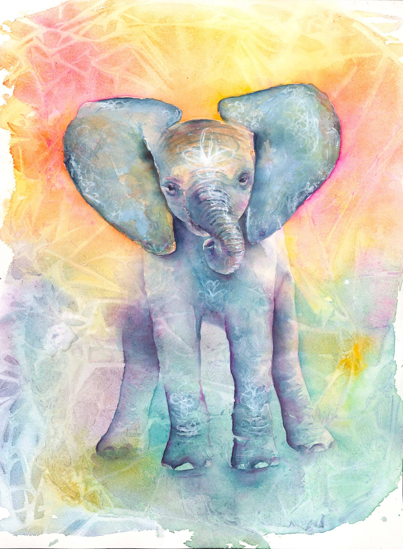 Elephant Art: Elephant Print baby Elephant Art Elephant
