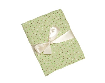Swaddling Blanket - Pastel Green Dots - X-Large - Ultra SOFT