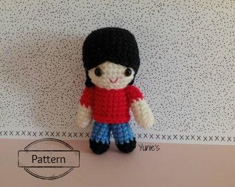 Crochet pattern doll: Girl Doll Crochet Pattern Amigurumi Bell