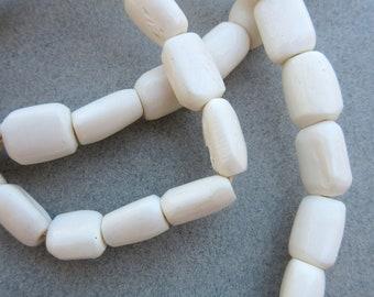 African White Bone Beads
