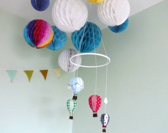 Hot Air Balloon Mobile - Cot Mobile