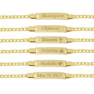 Gold Bracelet, Baby Bracelet, Personalized Baby Bracelet, ID Bracelet, Gold Baby Bracelet - 18kt Gold Filled Bracelet
