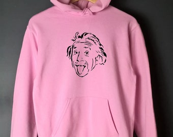 Einstein sweater, albert einstein geek sweatshirt phd funny nerd shirt 90s fashion tongue sticking out