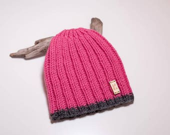 Babe [Baby Beanie] - Knitted ribbed toque beanie for babies