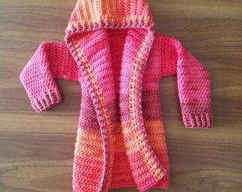Crochet Toddler Cardigan -- Size 2T/3T -- Toddler Jacket -- Toddler Sweater