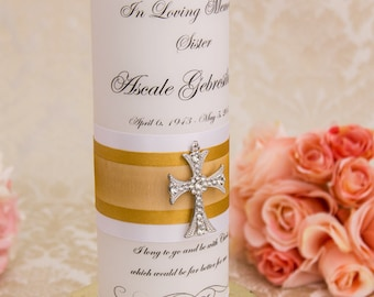 Memorial candle memory candle personalized wedding memorial candle remembrance candle customized wedding candle