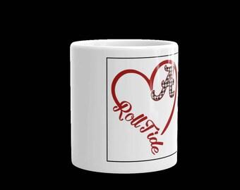 Alabama Roll Tide White Ceramic Mug