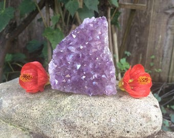 Amethyst Cluster from Uruguay - AA Quality Amethyst Crystals - Naturally Cleaned and Polished