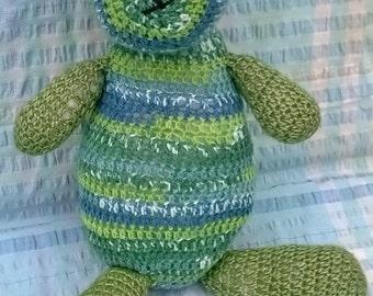 Handmade soft toy: Greeny Bear
