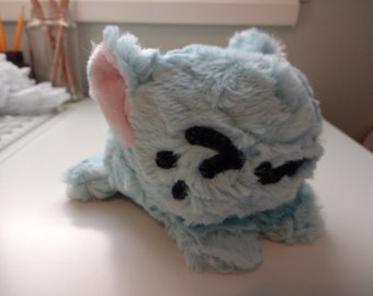 Mint Blue Fluffy Kitty Plush
