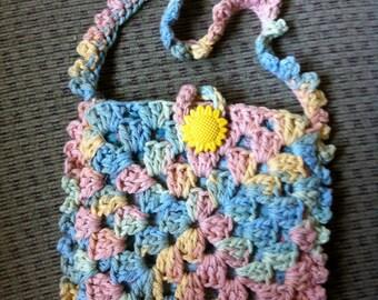 Crocheted Granny Square Purse #162