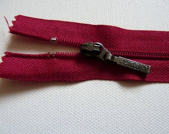 Dark red zipper 25 cm ideal for all your creations