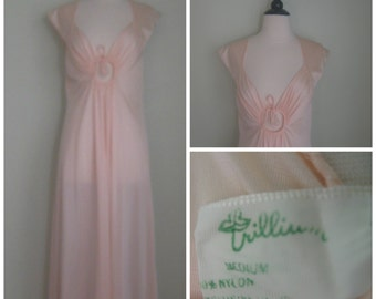 Vintage 1960's Nylon Peach Dream Nightgown