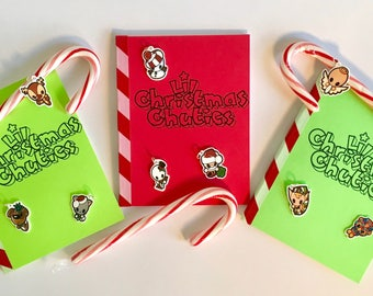 Lil Christmas Chuties/Color Zine, Handmade, Original characters, Original design, Montana artist, Zine collectors, Stocking stuffers, Cute