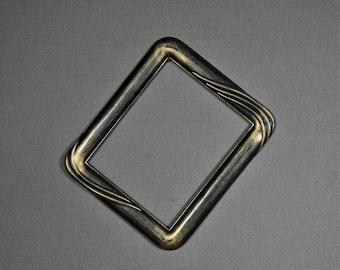 8x10 Frame Vintage Green Plastic Art Deco Design with Optional UltraVue® UV70 Glass and Custom Cut Matting