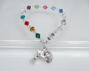 Mother's Bracelet Mother's Day Gift Swarovski Rosary Bracelet Mothers Bracelet Birthstone Bracelet Grandmother Bracelet Custom Bracelet