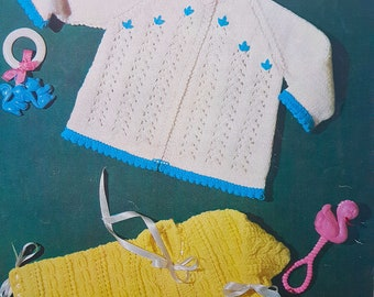 TEMPLETONS 1443  Baby Coats Original Vintage Knitting Pattern